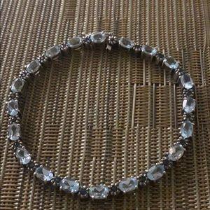 Ss  blue topaz and sapphire stone bracelet